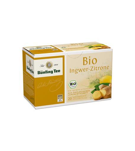 BÜNTING BIO Ingwer-Zitrone-Tee 20 x 2g im Teebeutel