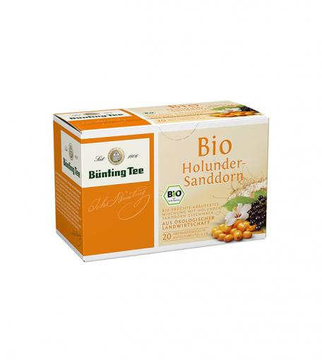 BÜNTING BIO Holunder-Sanddorn-Tee 20 x 2g im Teebeutel