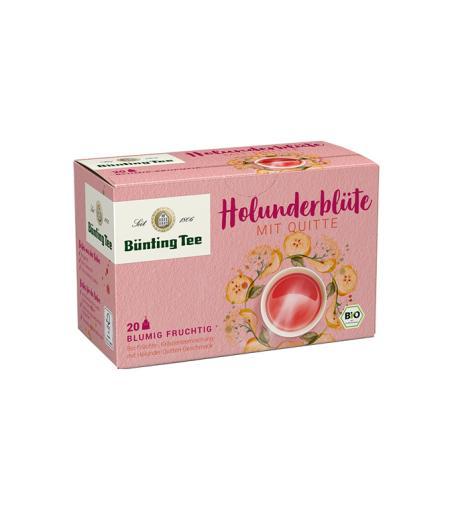 BÜNTING TEE Bio-Holunderblüte mit Quitte 20 x 2,5g im Teebeutel