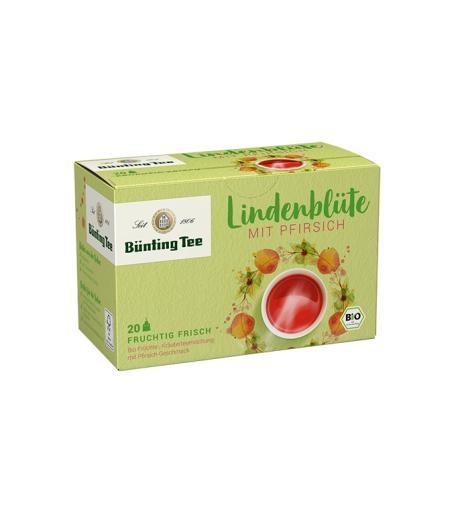 BÜNTING TEE Bio-Lindenblüte mit Pfirsich 20 x 2,5g im Teebeutel