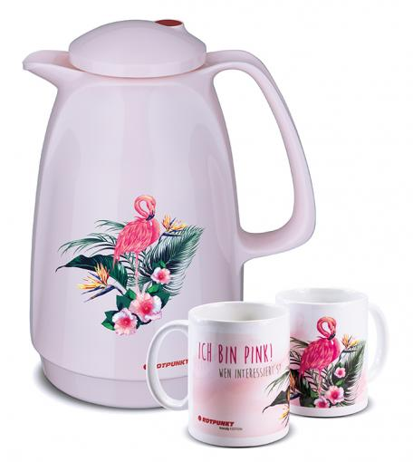 Flamingo-Set cherry blossom mit 1 Keramiktasse / Motiv 1